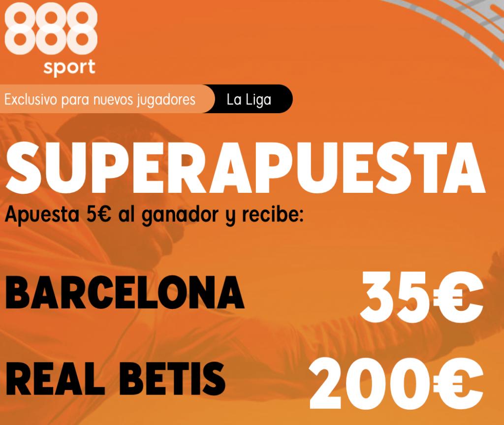 Supercuota 888sport La Liga : Fc Barcelona - Real Betis