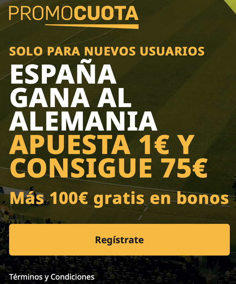 Supercuota betfair España - Alemania