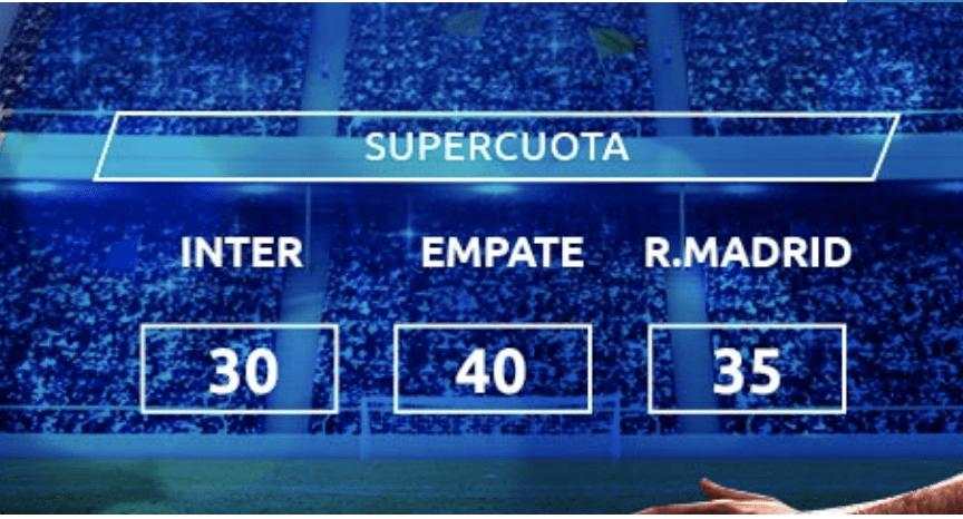 Supercuota Mondobets Champions League : Inter - Real Madrid