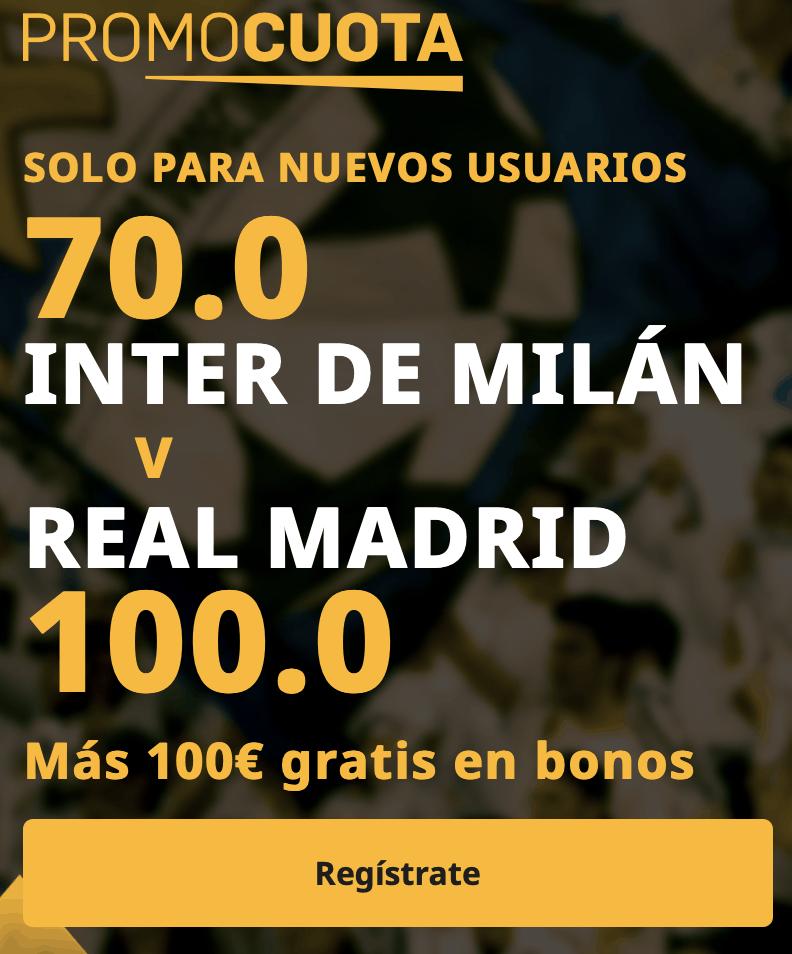 Supercuota betfair Champions League: Inter - Real Madrid.