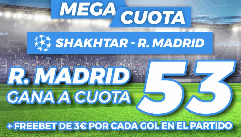 Supercuota Pastón Champions League : Shakthar Donestk - Real Madrid.