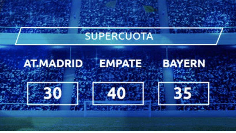 Supercuota Mondobets Champions League : Atlético de Madrid - Bayern de Munich
