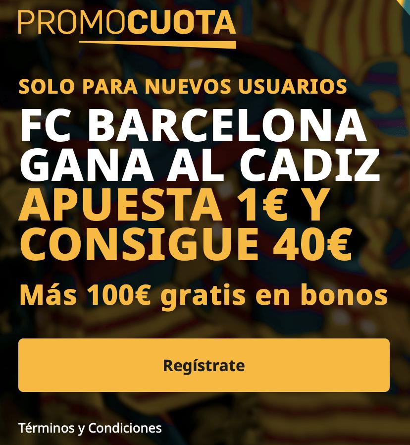 Supercuota betfair La Liga: Cádiz - Fc Barcelona