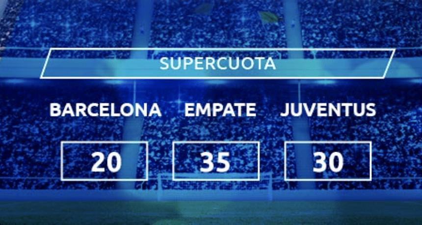 Supercuota Mondobets Champions League : Fc Barcelona - Juventus