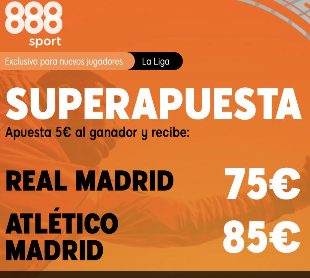 Supercuota 888sport La Liga: Real Madrid - Atlético de Madrid