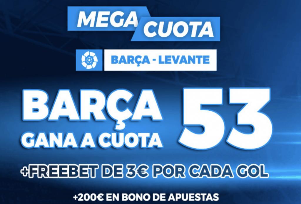 Supercuota pastón La Liga: Fc Barcelona - Levante