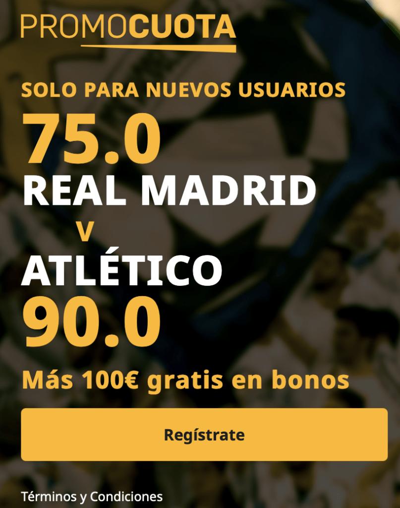 Supercuota betfair La Liga: Real Madrid - Atlético de Madrid