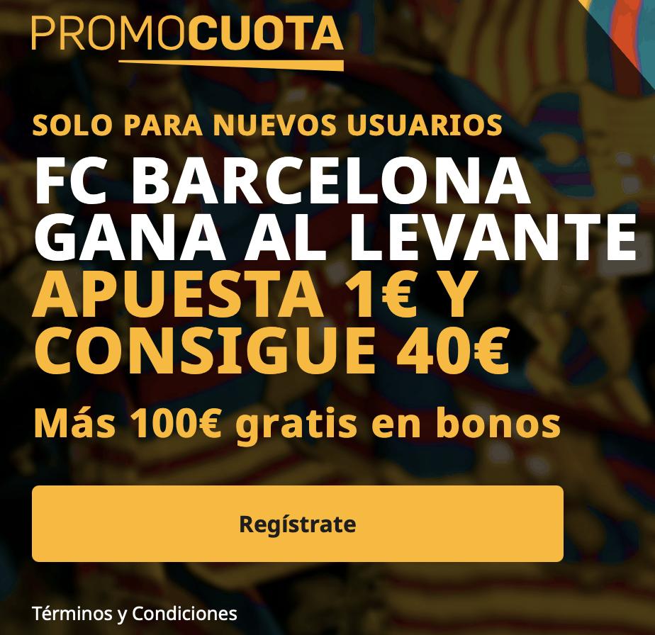 Supercuota betfair La Liga : Fc Barcelona - Levante UD.