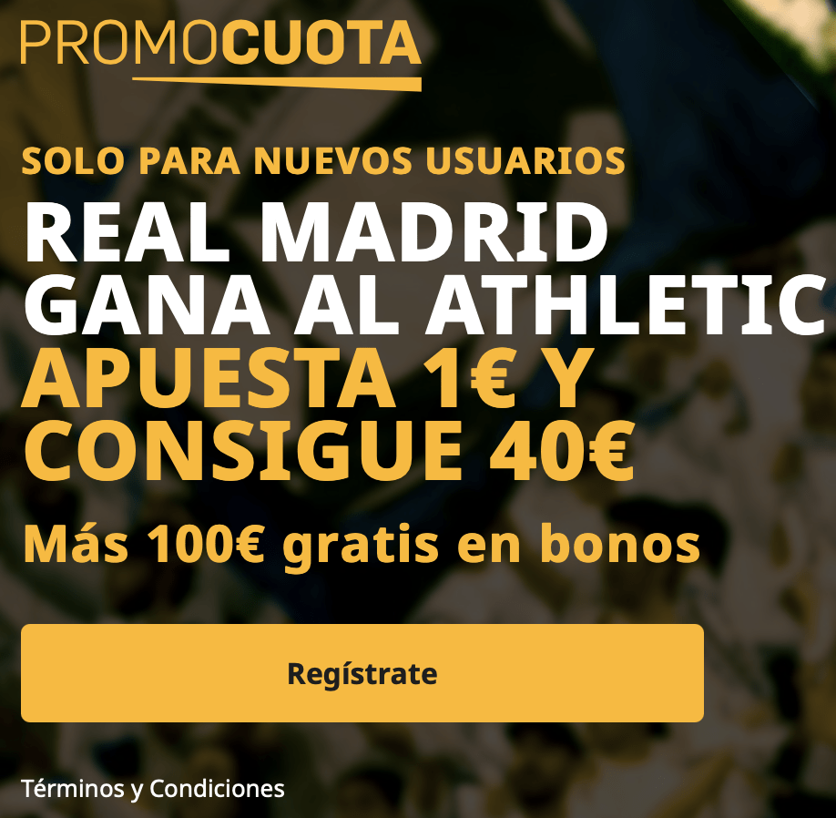 Supercuota betfair La Liga : Athletic - Real Madrid