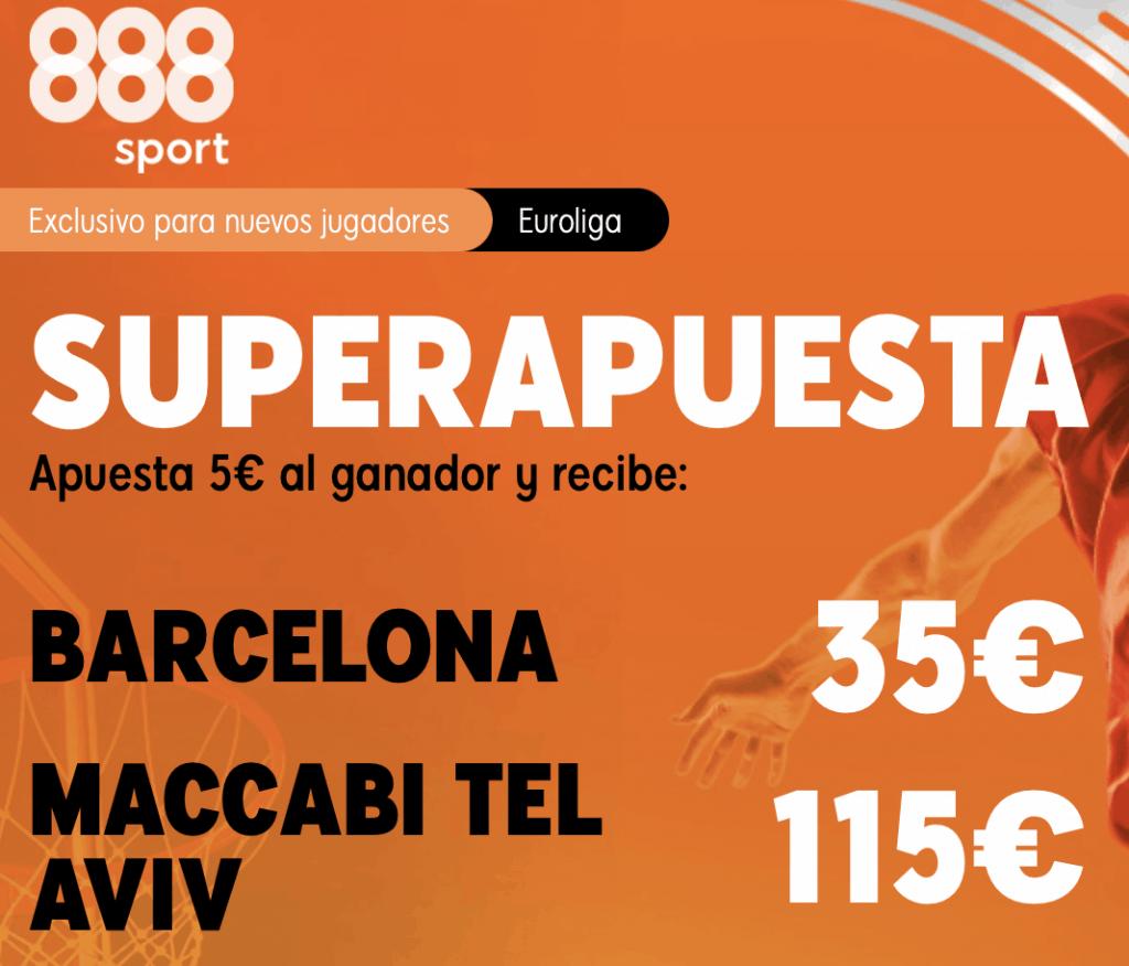 Supercuota 888sport Euroleague : Barcelona - Maccabi