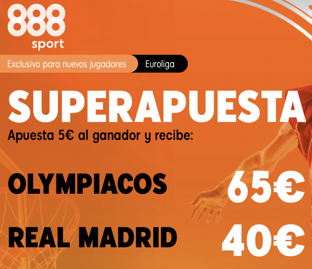 Supercuota 888sport Euroleague : Olympiacos - Real Madrid