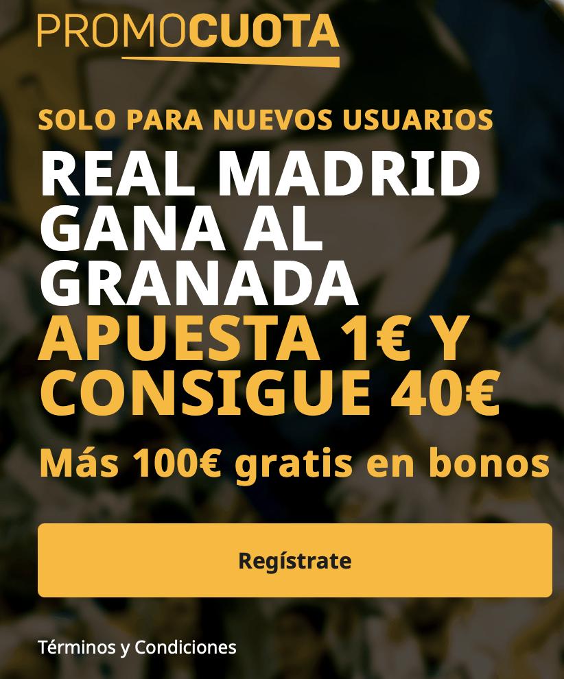 Supercuota betfair La Liga: Real Madrid - Granada
