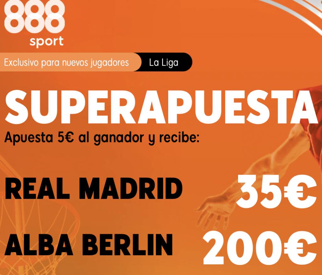 Supercuota 888sport Euroleague : Real Madrid - Alba de Berlín