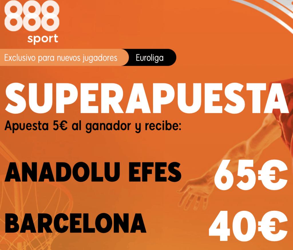 Supercuota 888sport Euroleague : Anadolu Efes - Fc Barcelona