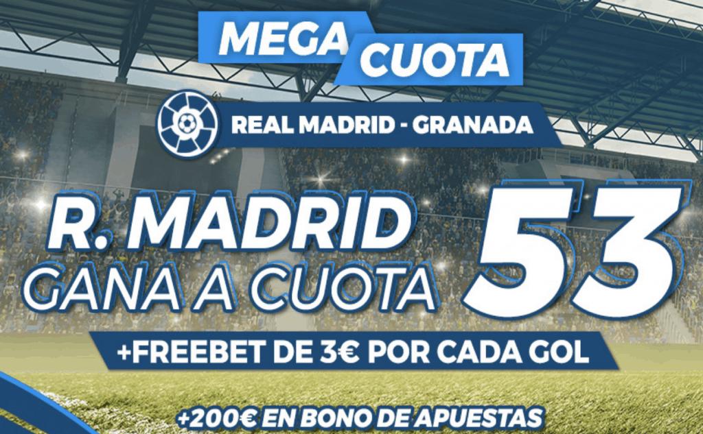 Supercuota pastón La Liga: Real Madrid - Granada