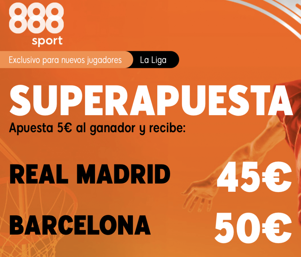 Supercuota 888sport Liga ACB Baloncesto Real Madrid - Fc Barcelona