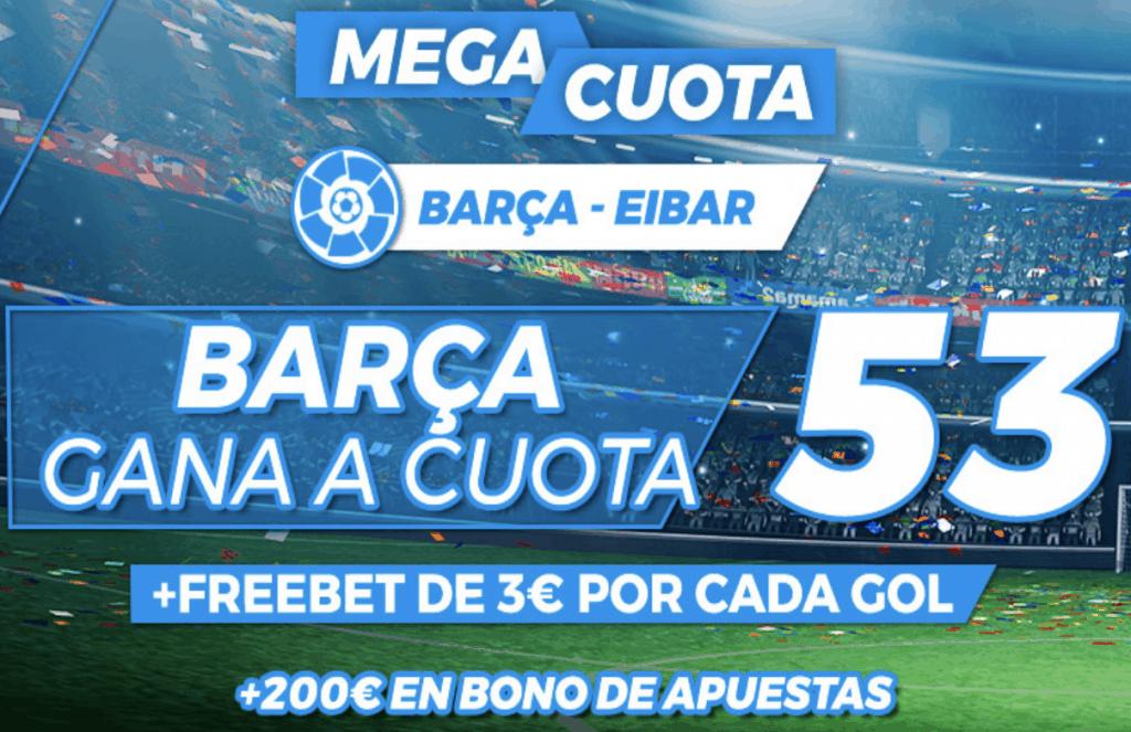 Supercuota pastón La Liga : Fc Barcelona - Eibar.