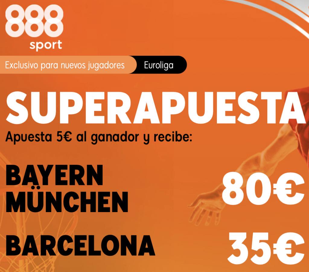 Supercuota 888sport Euroleague Bayern Munich - Fc Barcelona