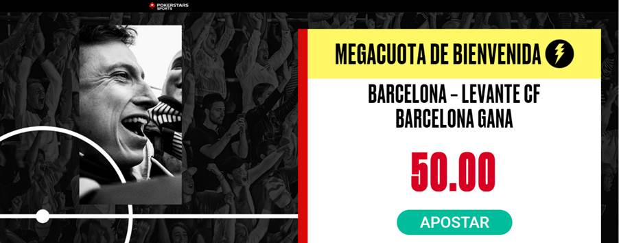 Supercuota Pokerstars Sports La Liga : Fc Barcelona - Levante UD.