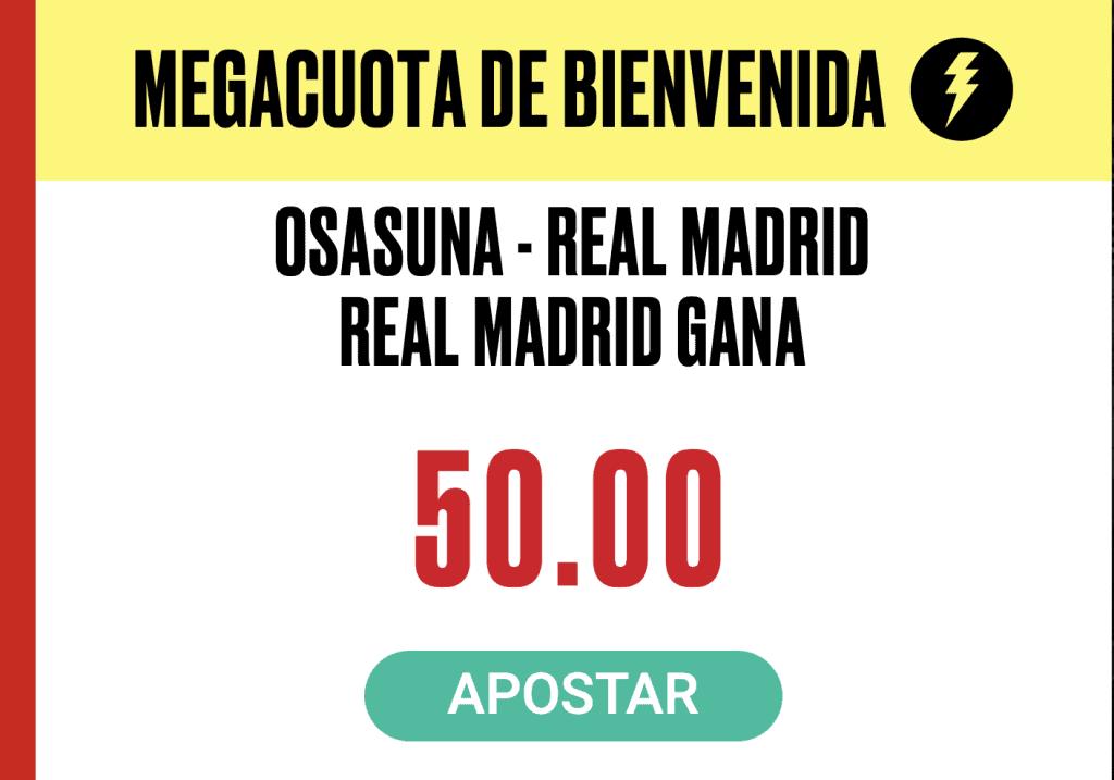 Supercuota PokerStars Sports La Liga : Osasuna - Real Madrid