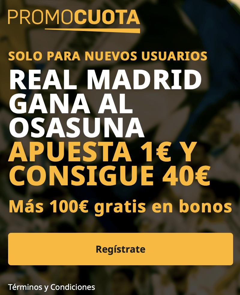 Supercuota betfair La Liga : Osasuna - Real Madrid
