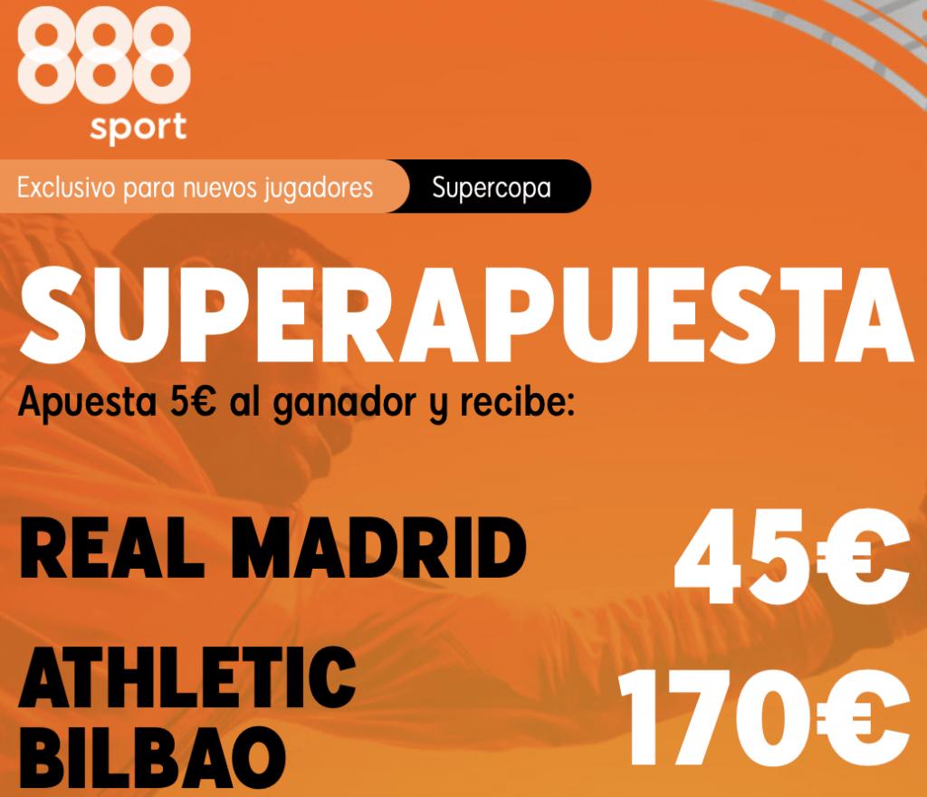 Supercuota 888sport Supercopa España : Real Madrid - Athletic