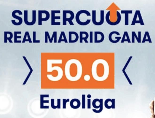 Supercuota betsson Euroliga : Real Madrid - Estrella Roja