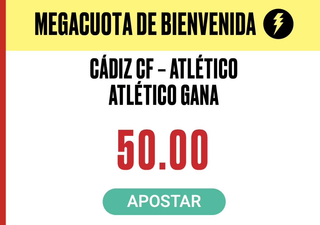 Supercuota Pokerstars La Liga : Cadiz CF - Atlético de Madrid.