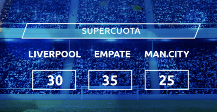 Supercuota Mondobets Premier League : Liverpool - Manchester City