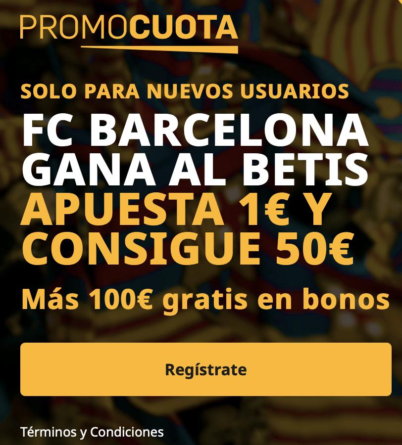 Supercuota betfair Liga : Real Betis - Fc Barcelona