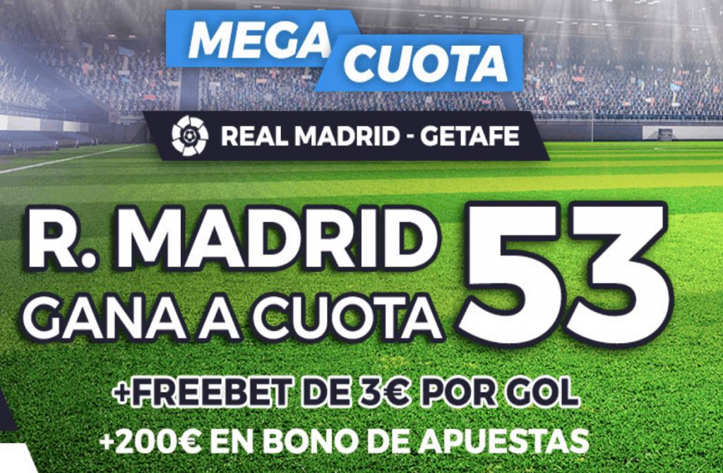 Supercuota Pastón La Liga : Real Madrid - Getafe.