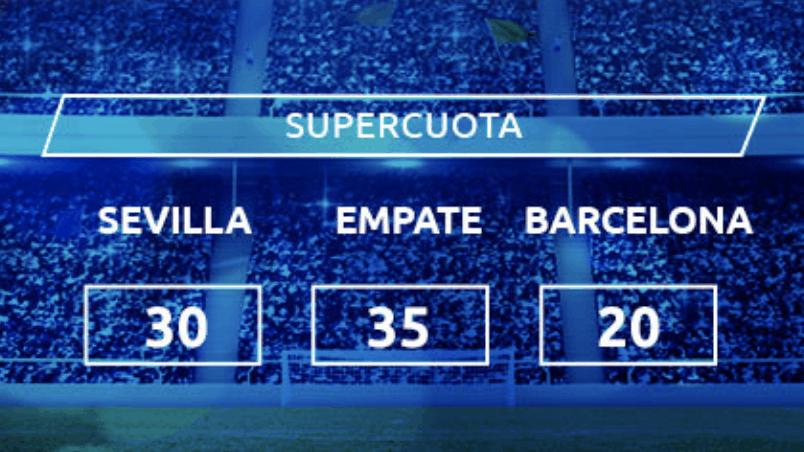 Supercuota Mondobets Copa del Rey : Sevilla FC - FC Barcelona.