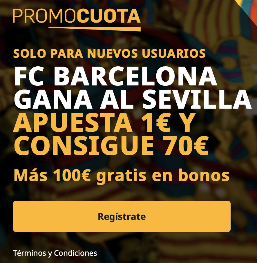 Supercuota betfair Copa del Rey : Sevilla FC - FC Barcelona.