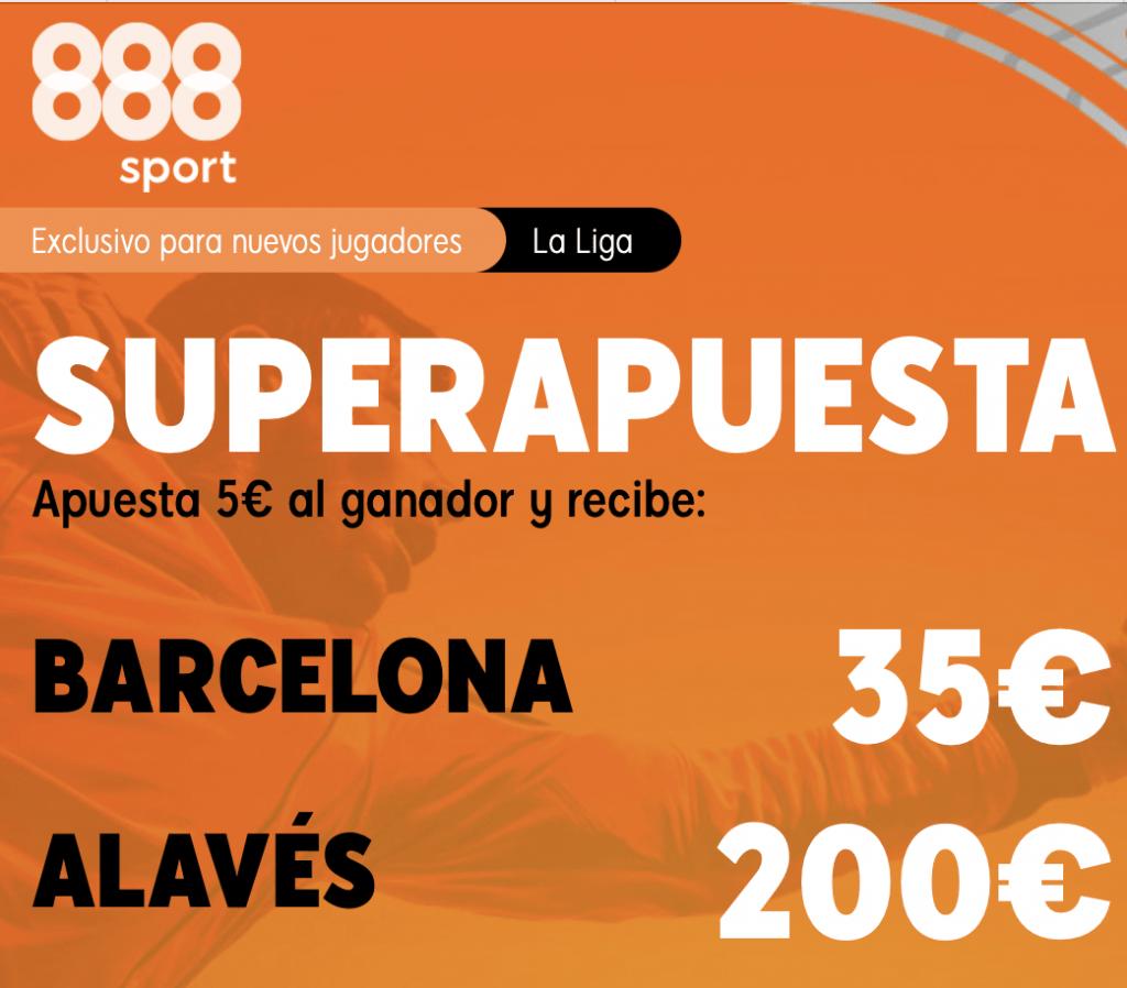 Supercuota 888sport La Liga : Fc Barcelona - Alavés
