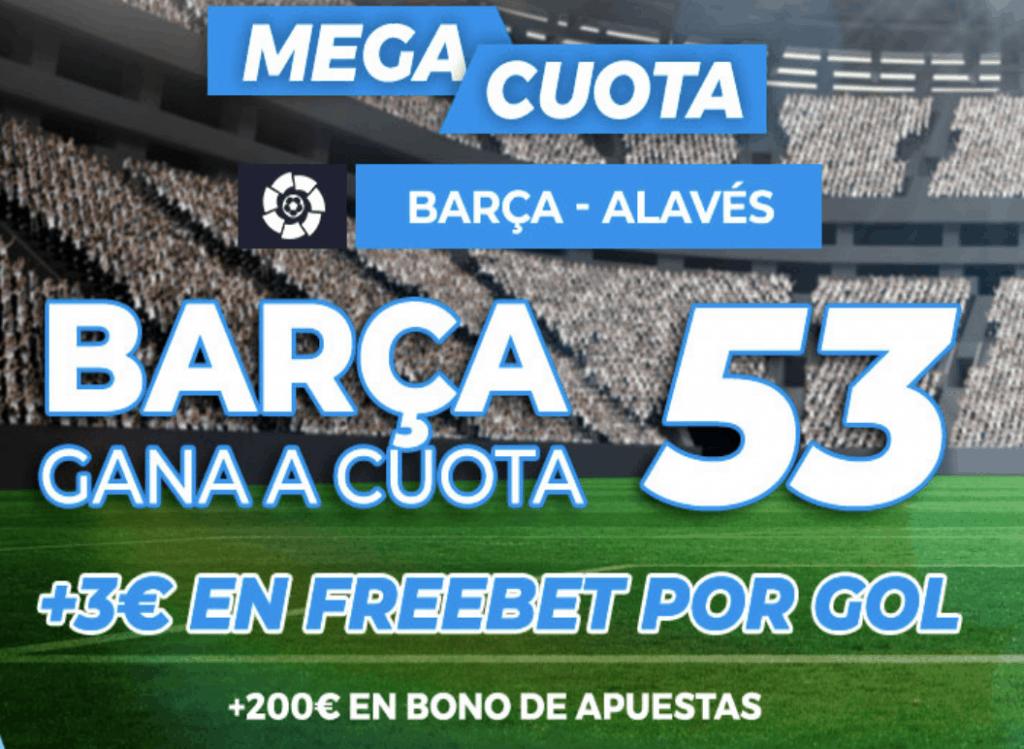 Supercuota pastón La Liga: Fc Barcelona - Alavés.
