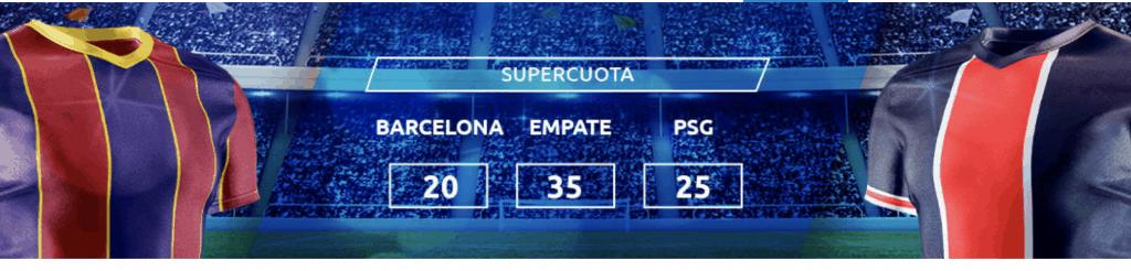 Supercuota Mondobets Champions League : Fc Barcelona - PSG