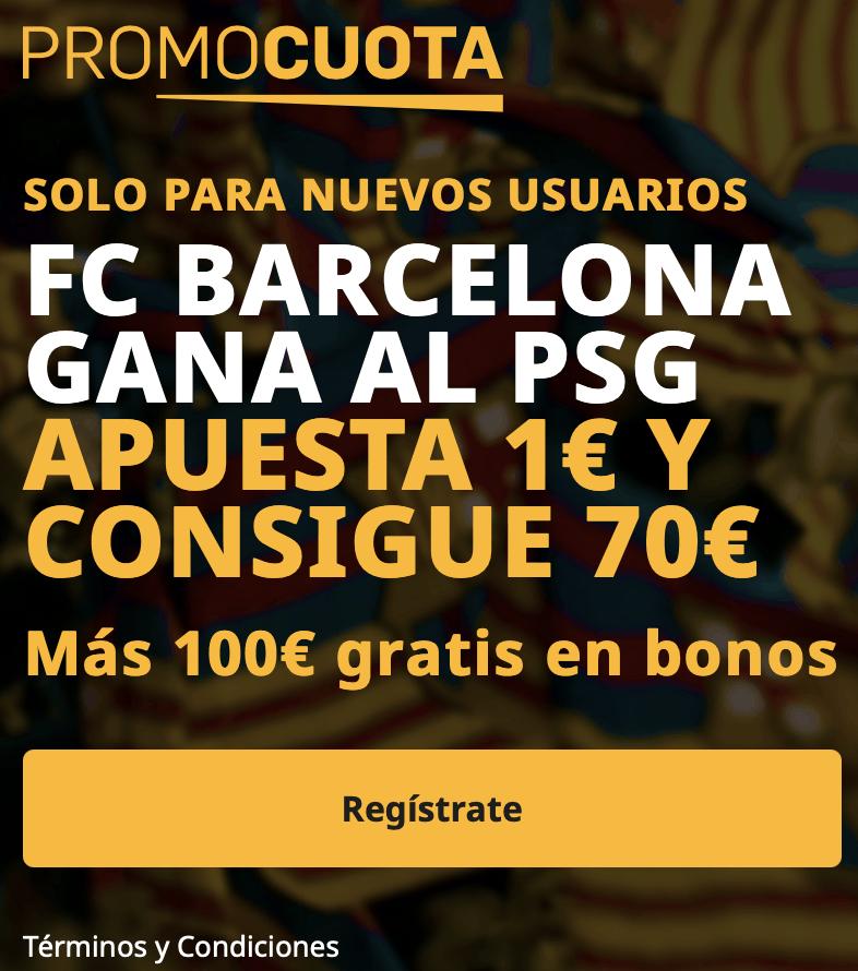 Supercuota betfair Champions League : Fc Barcelona - PSG