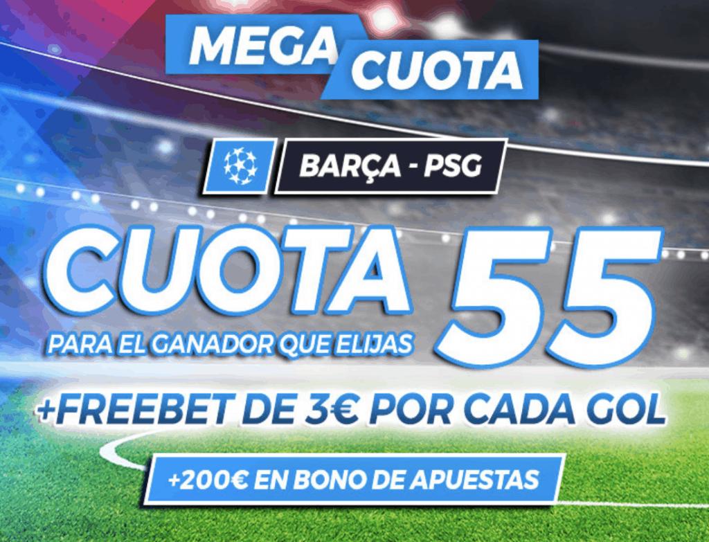 Supercuota Pastón Champions League : Fc Barcelona - PSG