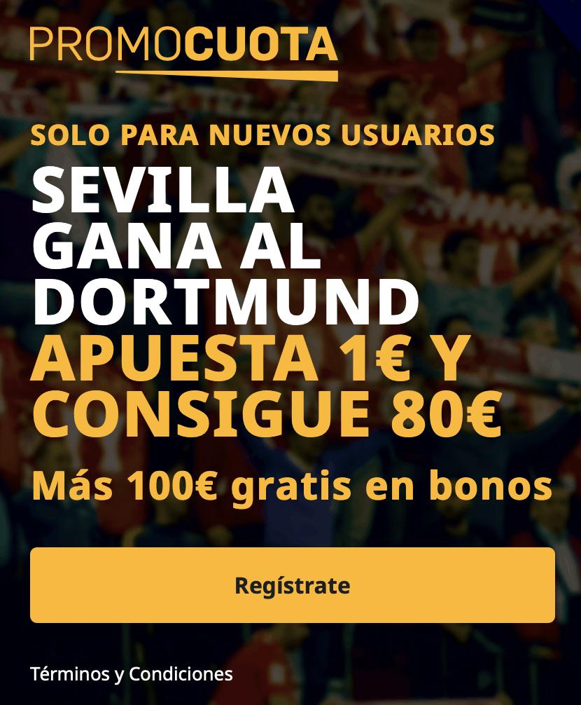 Supercuota betfair Champions League : Sevilla FC - Borussia Dortmund