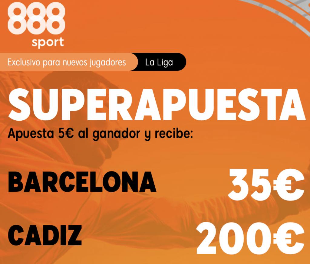 Supercuota 888sport La Liga : Fc Barcelona - Cádiz