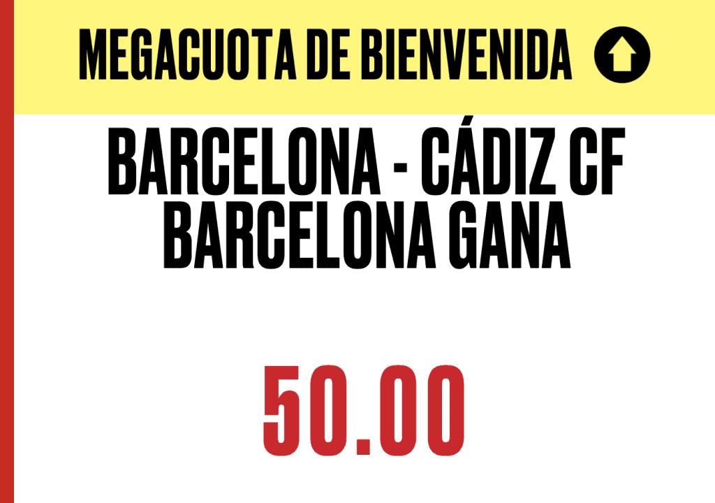 Supercuota Pokerstars Sports La Liga : Fc Barcelona - Cádiz CF
