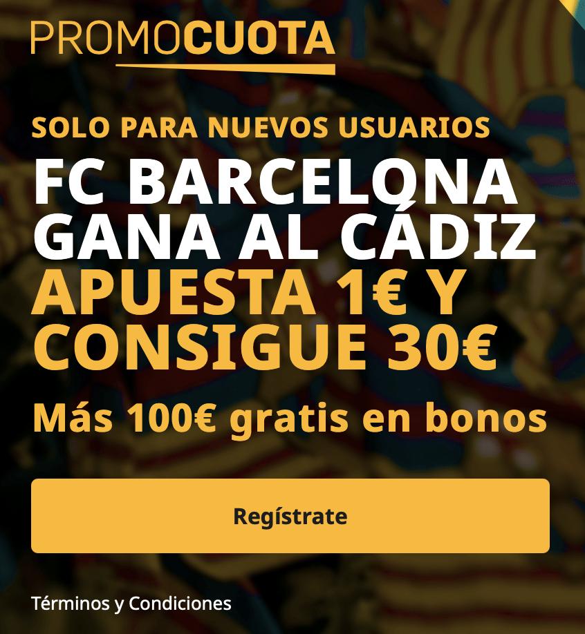 Supercuota betfair La Liga : Fc Barcelona - Cádiz