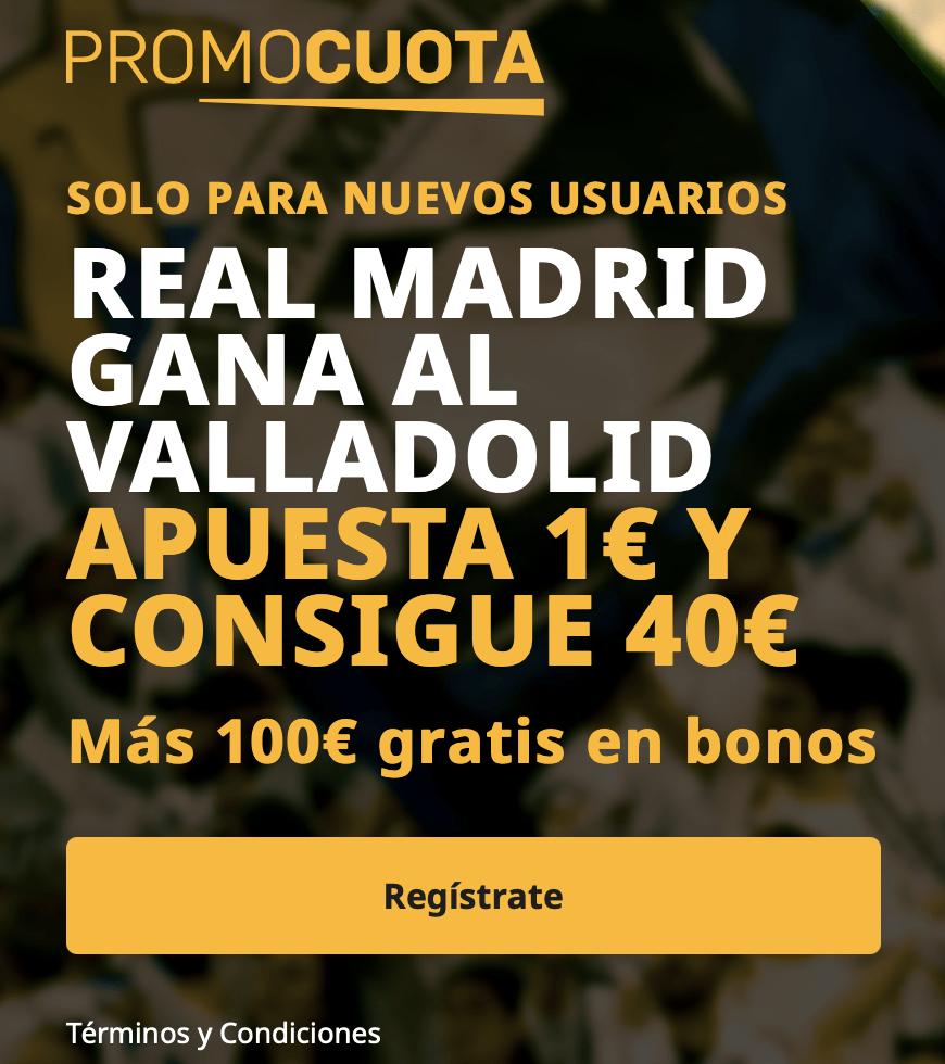 Supercuota betfair La Liga : Valladolid - Real Madrid
