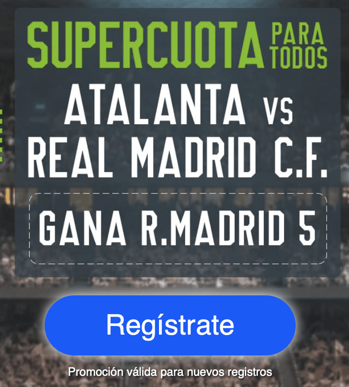 Supercuota Codere Champions League : Atalanta - Real Madrid