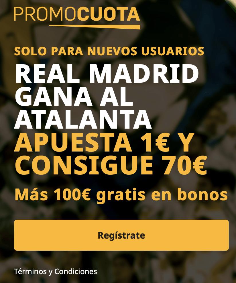 Supercuota betfair Champions League : Atalanta - Real Madrid.