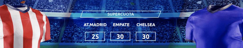Supercuota Mondobets Champions League : Atlético de Madrid - Chelsea