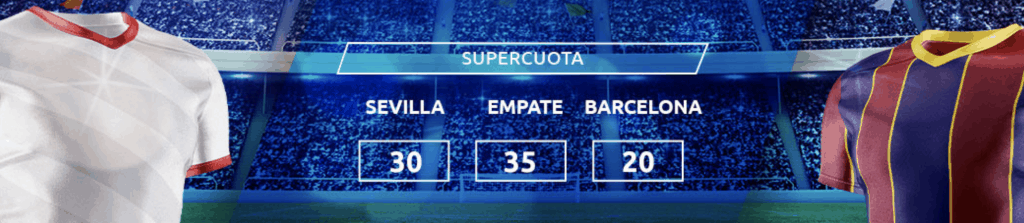 Supercuota Mondobets La Liga : Sevilla - Fc Barcelona.
