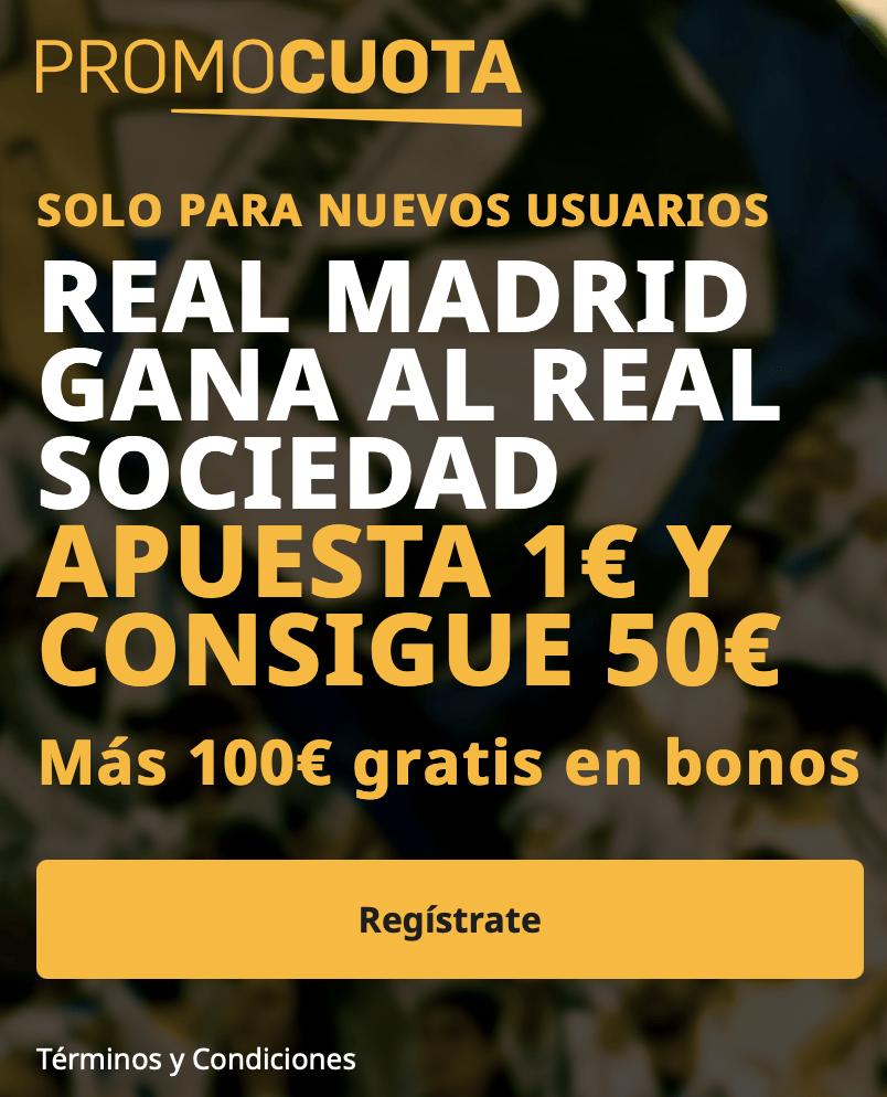 Supercuota Betfair La Liga : Real Madrid - Real Sociedad