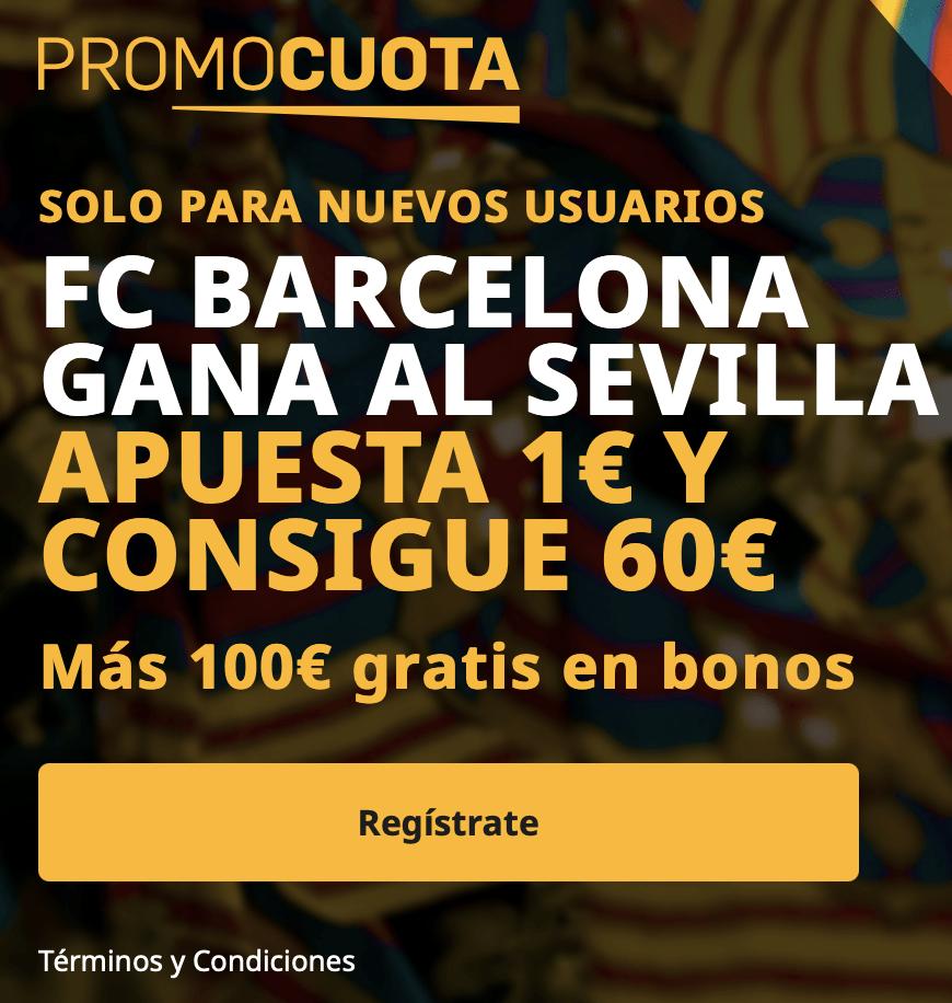 Supercuota betfair La Liga : Sevilla FC - Fc Barcelona.
