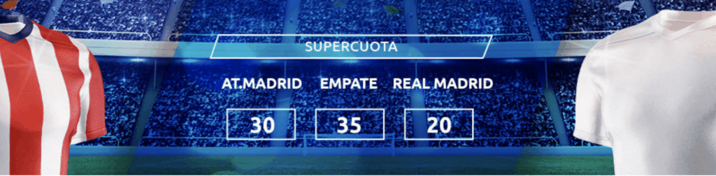 Supercuota Mondobets La Liga : Atlético de Madrid - Real Madrid.